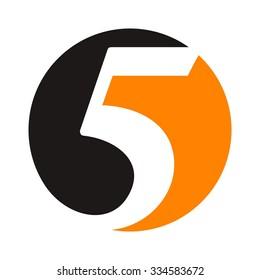 five logo. 5 logo template. vector icon.