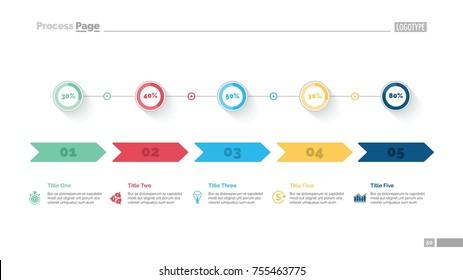 Five Options Comparison Slide Template