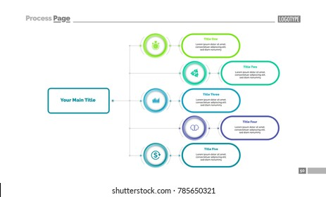 Five Options Flowchart Slide Template