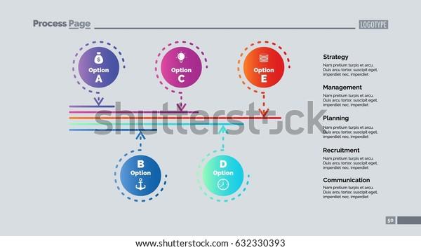 Five Options Process Slide Template