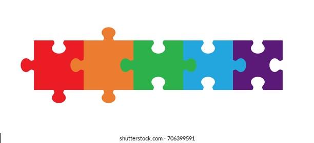 Five Part Puzzle Chain