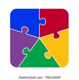Five Part Square Puzzle