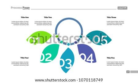 Five Petal Diagram Slide Template Business Stock Vector (Royalty ...