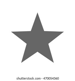 Five point star. Vector illustration
