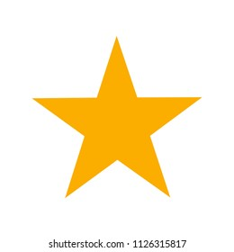 Five point yellow star icon
