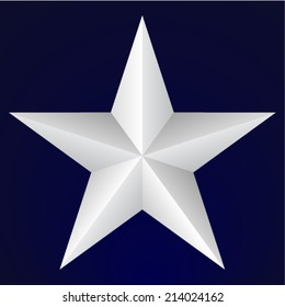 Five pointed star on blue background