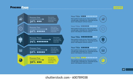 Five Processes Comparison Slide Template