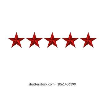 Five red stars