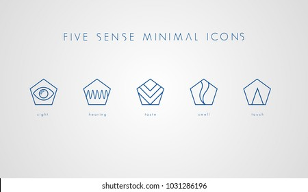Five Sense Minimal Icons