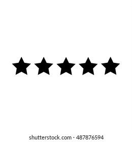 Five star hotel business concept vector icon.