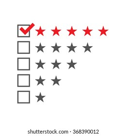 Five star rating template. Vector illustration.