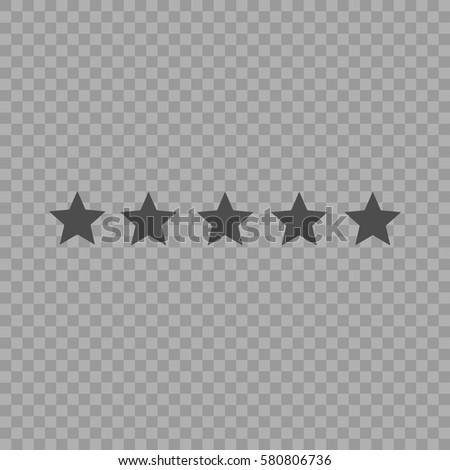 Five Star Rating Vector Illustration Eps Stock Vektorgrafik