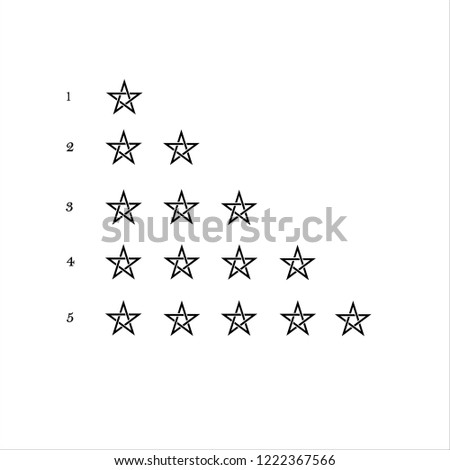 Five Star App >> Five Star Rating Web App Buttons Stock Vector Royalty Free