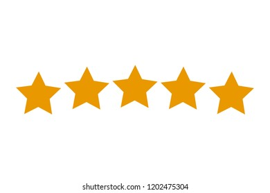 Five stars customer product rating - stock vector
