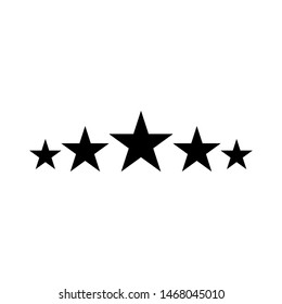 Five stars customer review. sign design