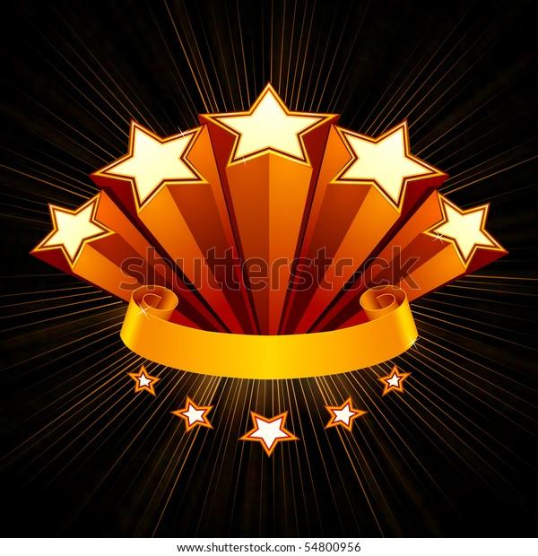 Five Stars emblem, black background