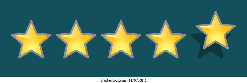 five stars, fifth star out of place