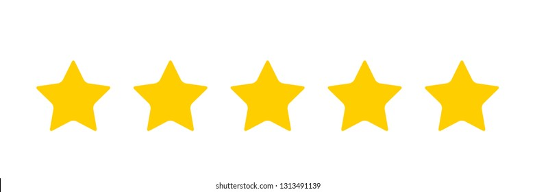 Five stars icon  Vector
