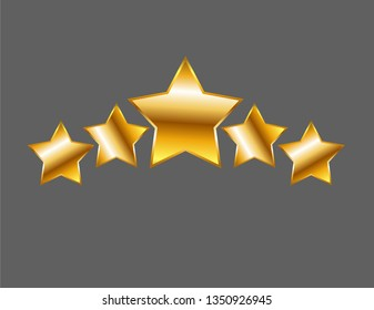 Five stars isolated