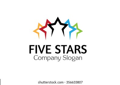 Five Stars Logo Symbol Design Illustration