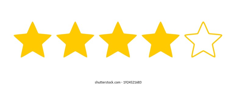 Five stars quality rating icon. Vector illustration.