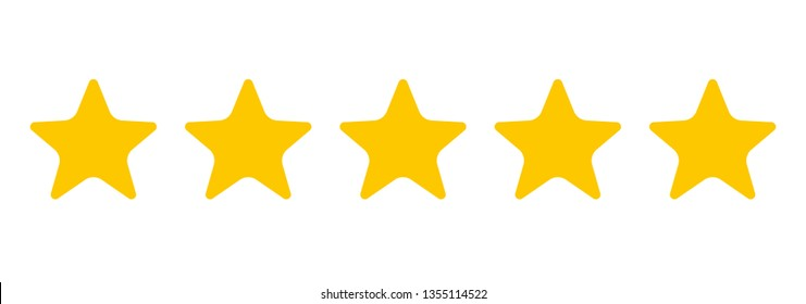 Five stars. Quality sign. Vector illustration