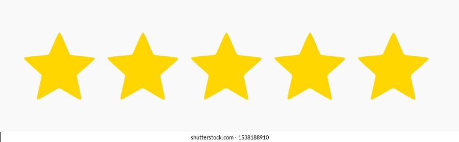Five stars quality symbol. Vector illustration.