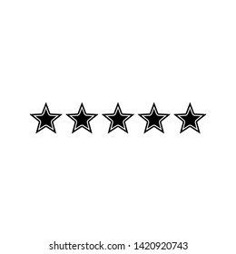Five stars rating icon flat vector illustration design isolated on white background