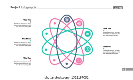 Five steps process chart slide template. Business data. Option, strategy, design. Creative concept for infographic, presentation, report. Can be used for topics like production, insurance, planning.