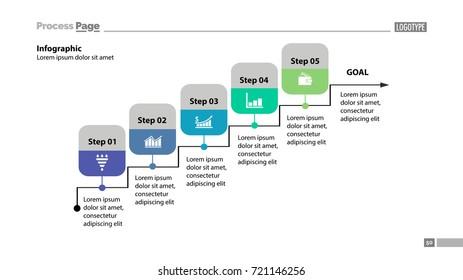 Five steps process chart template design