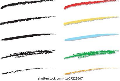 Five types of vector underlining