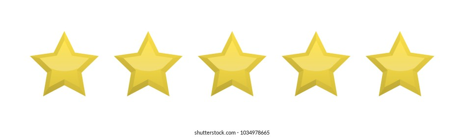 Five yellow stars for product review