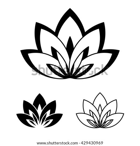 Fivepetals lotus flower symbol yoga vector stock vector royalty five petals lotus flower as symbol of yoga vector illustration for yoga event mightylinksfo