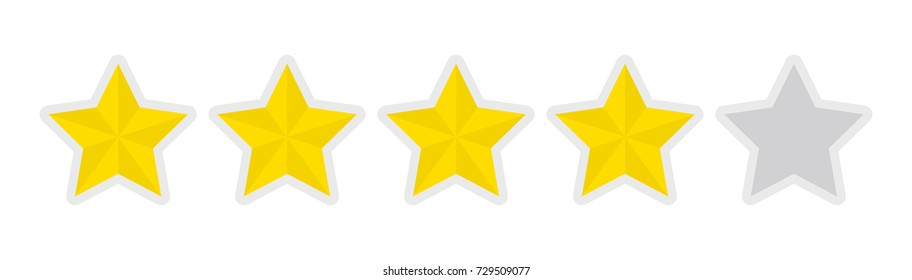 4 Star Rating Images, Stock Photos & Vectors | Shutterstock