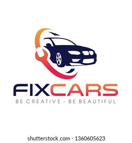 Fix Car, Car Services and Secure Logo Design Vector