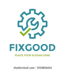 Fix good vector logo template. This design use checklist symbol.