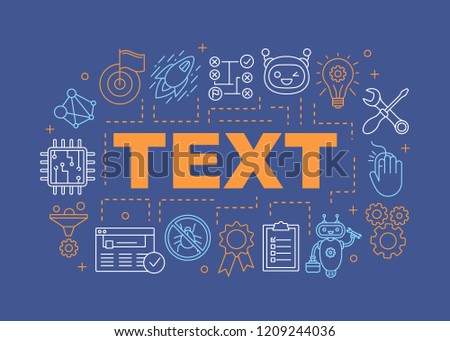 Fix Word Concepts Banner Service Center Stock Vector (Royalty Free