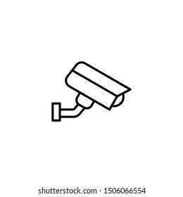 Fixed CCTV icon. Security Camera Icon Vector. Video surveillance icon. Trendy Flat style for graphic design, Web site, UI. EPS10. - Vector illustration