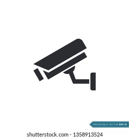 Fixed CCTV, Security Camera Icon Vector Template