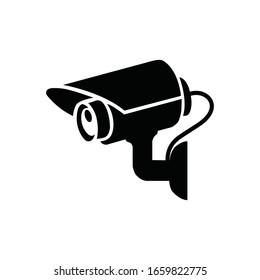 Fixed CCTV, Security Camera Icon Vector Template Illustration Design