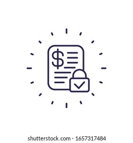 fixed costs icon, line vector