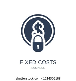 Fixed costs icon. Trendy flat vector Fixed costs icon on white background from Business collection, vector illustration can be use for web and mobile, eps10
