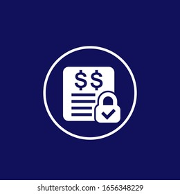 fixed costs, price vector icon