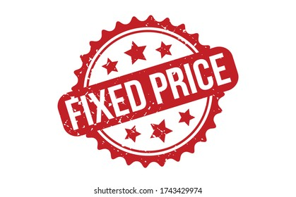 Fixed price Rubber Stamp. Red Fixed price Rubber Grunge Stamp Seal Vector Illustration - Vector