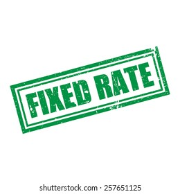 Fixed Rate, Grunge Stamp, Vector illustration