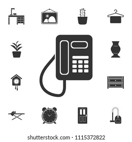 Fixed telephone icon. Simple element illustration. Fixed telephone symbol design from Home Furniture collection set. Can be used for web and mobile on white background
