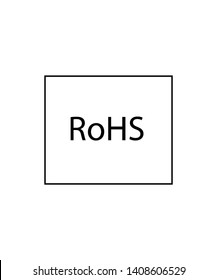 Fixtures signs. RoHS sign. Product meets the requirements of the EU Directive regarding restrictions of use of Certain hazardous substances in electrical and electronic equipment sign