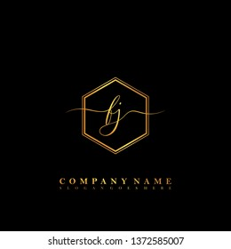 FJ Initial luxury handwriting logo vector