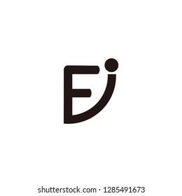 fj letter vector logo. fi letter vector logo. ei letter logo. ej letter logo