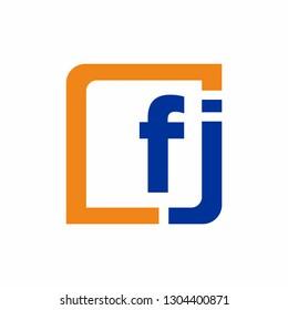 FJ logo initial letter design template vector illustration